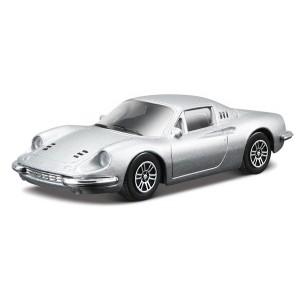 Ferrari Dino 246 GT - argintiu - 1:43 Race & Play