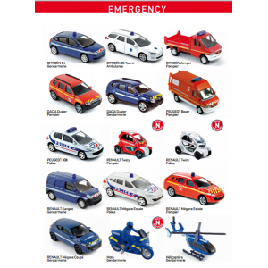 EMERGENCY CAR NOREV DIE-CAST - 1 piece 1:60