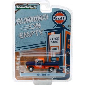 1971 Ford F-100 - Gulf Oil Solid Pack - Running on Empty Series 7 1:64