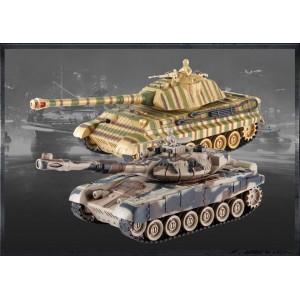 Set de tanc cu telecomanda Rusa T90 v2 si German King Tiger v2 40MHz-49MHz 1.28 RTR