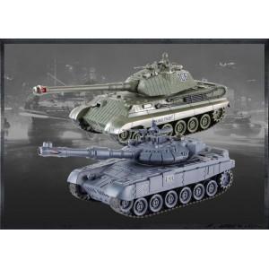Set de tanc cu telecomanda Rusa T90 v2 si German King Tiger v2 2.4MHz 1.28 RTR
