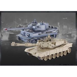 Set de tanc cu telecomanda M1A2 Abrams si German Tiger v2 2.4MHz RTR 1.28