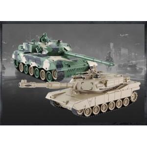 Set de Tanc cu Telecomanda China 96 tip si American M1A2 2.4MHz 1.28 RTR