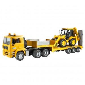 Camion Man si Excavator JCB 4CX Bruder