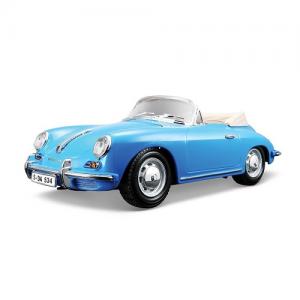 Macheta auto Porsche 356B Cabriolet (1961) - albastru - 1:18