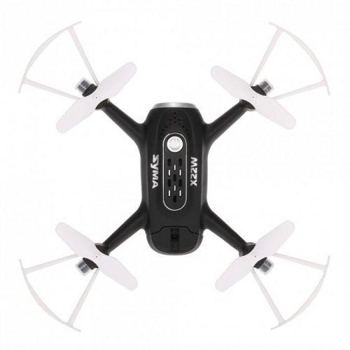 Syma X22W 2.4GHz FPV WiFi camera, gyroscope, auto-start, hovering, range up to 25m - Negru