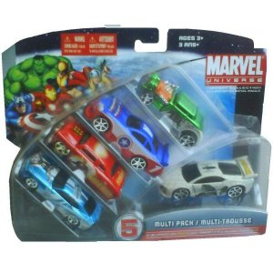 Set 5 masini 1:64 Marvel Iron Man