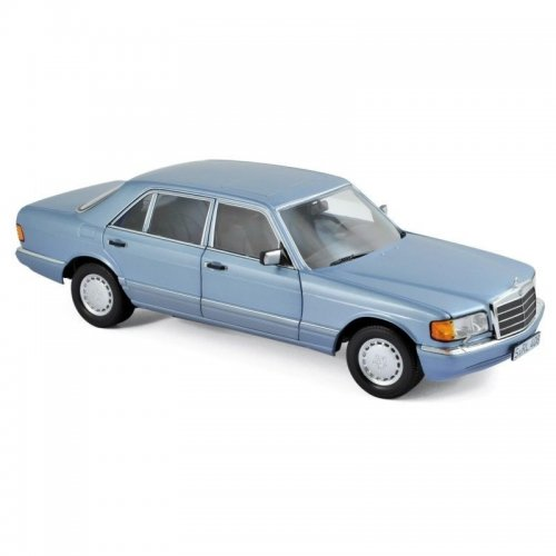 Macheta Auto Norev, Mercedes-Benz 560 SEL 1990 - Pearl Blue metallic 1:18
