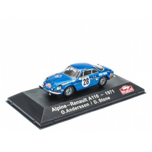 Alpine-Renault A110 - 1971 O. Andersson / D.Stone - ATLAS Editions Collection 1:43