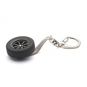 8-SPOKES WHEEL KEYCHAIN 1:18