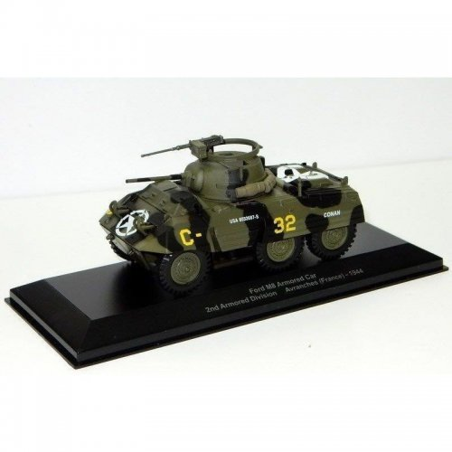 Ford M8 Armored Car 2nd Armored Division Avranches (WWII Collection by EAGLEMOSS) 1:43