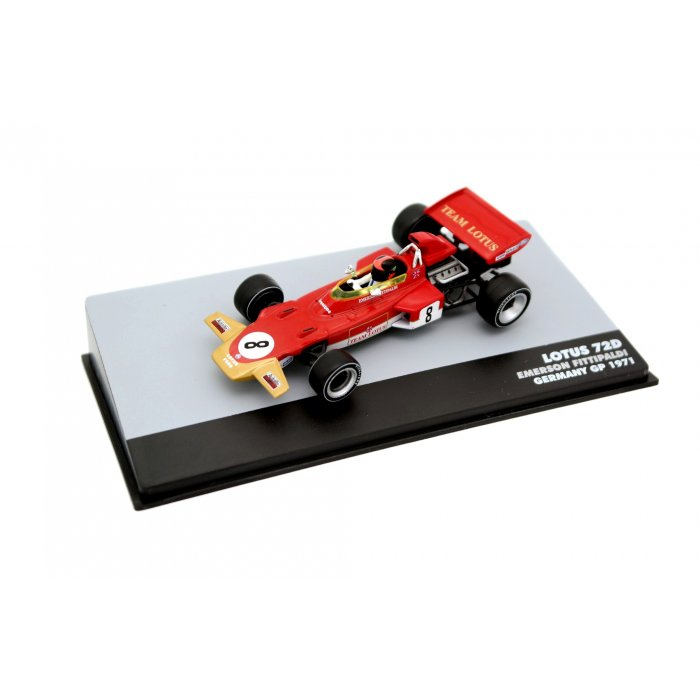 1971 Lotus 72D Lotus-Ford Cosworth #8 Emerson Fittipaldi Germany GP F1, red/gold 1:43