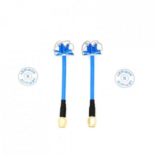 Zestaw 2 anten Aomway 5.8GHz Clover RHCP SMA