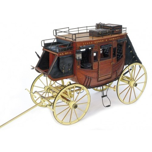 1:10 STAGE COACH 1848  - Wooden model kit 1:10