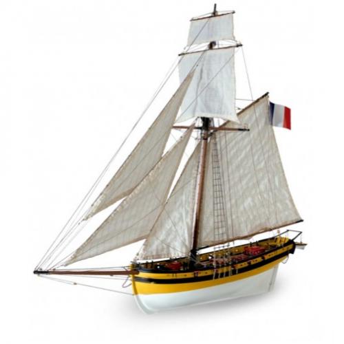 1:50 Le Renar - The Fox - Wooden Model Ship Kit 1:50