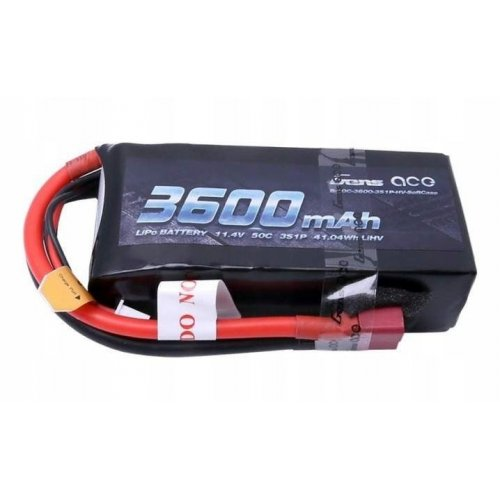 Battery 3600mAh 11.4V 3S1P 50C High Voltage Lipo Battery Pack with T-plug