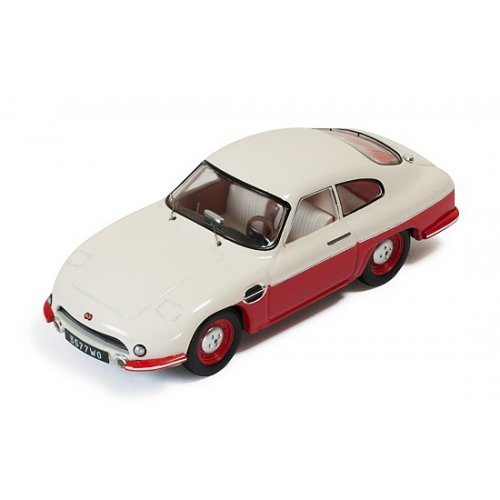 Macheta Auto IXO, Panhard DB HBR5 1957- Beige and Red (closed lights) 1:43