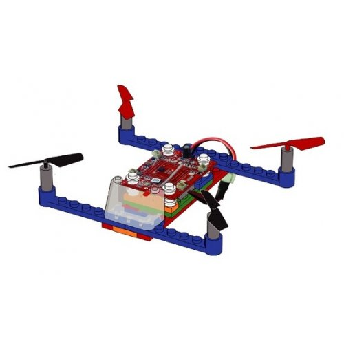 Drone 021 - to be built from pieces (2.4GHz, 4CH, gyroscope, RTF) - Blue