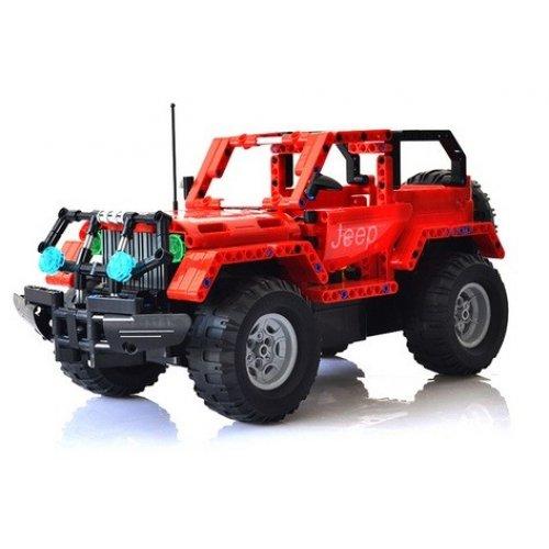 Jeep Wrangler - pentru a construi cu blocuri cu telecomanda