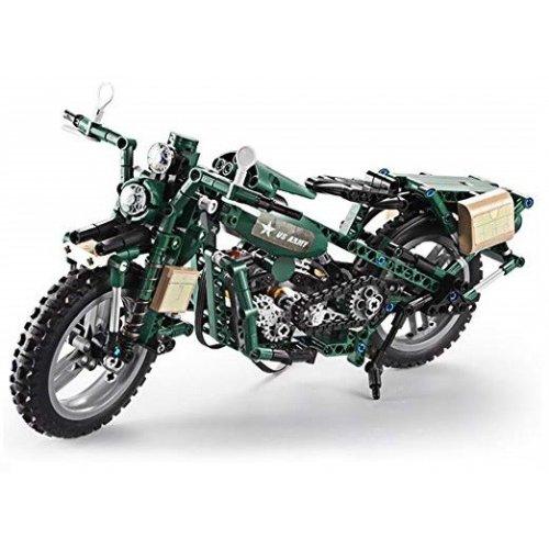 Motocicleta - building blocks - cu telecomanda
