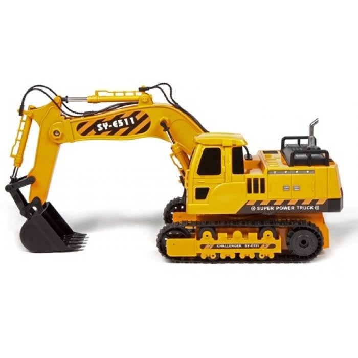 Excavator Double Eagle, cu Telecomanda 1:20 - Galben