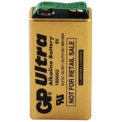 9V GP Ultra Alkaline battery