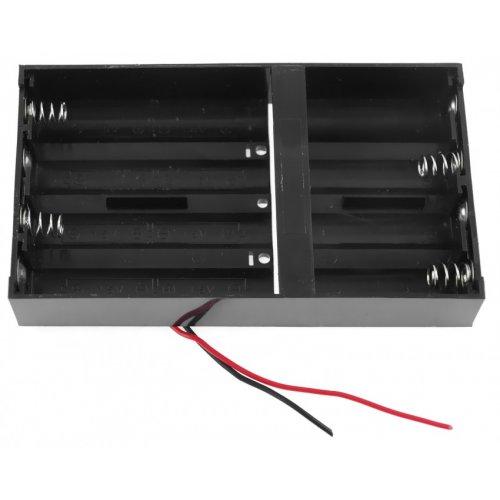 Koszyczek długi na 8 akumulatorów R6/AA