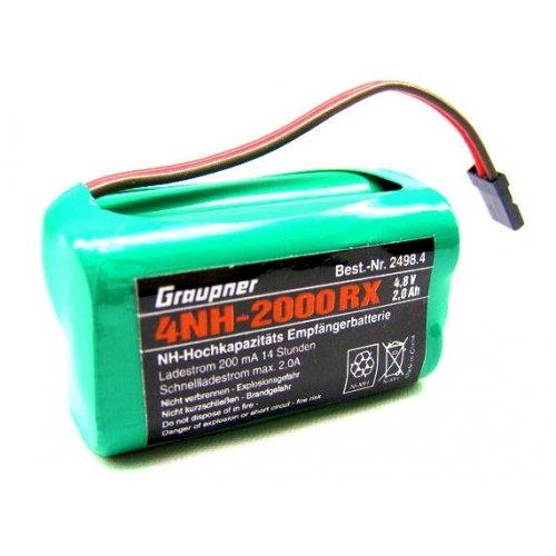 4,8V NiMH 2000 mAh cube battery pack