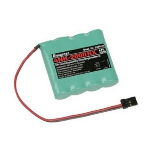 4,8V NiMH 2000 mAh flat battery pack