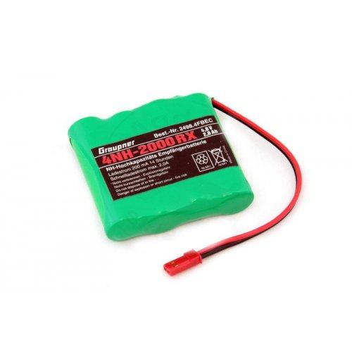 4,8V NiMH 2000 mAh flat battery pack