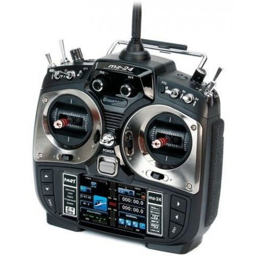 Aparatura MZ-24 HOTT 2.4GHz 12CH (odbiornik GR-16, interfejs USB, walizka, akumulator, Å'adowarka)