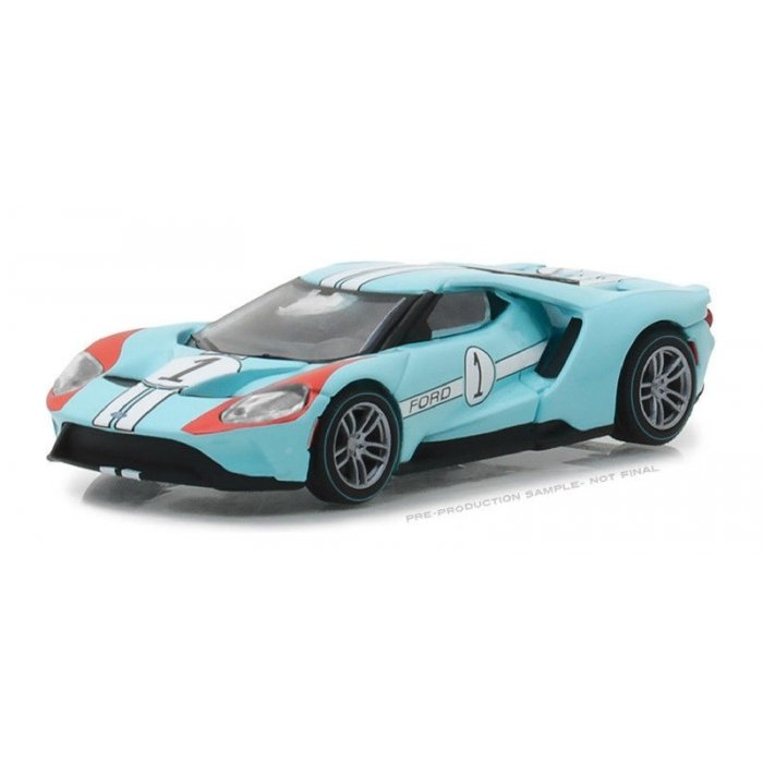 2017 Ford GT 1966 #1 Ford GT40 Mk II Tribute Solid Pack - Ford GT Racing Heritage Series 1 1:64
