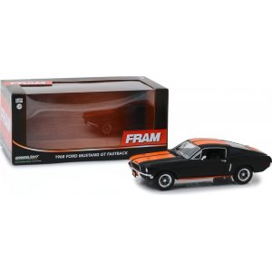 1968 Ford Mustang GT Fastback - FRAM Oil Filters - Black with Orange Stripes 1:24