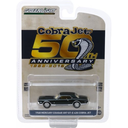 Anniversary Collection Series 9 - 1968 Mercury Cougar XR-7 GT-E 428 Cobra Jet - Cobra Jet 50th Anniversary Solid Pack 1:64