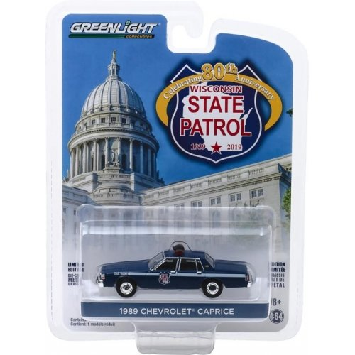 Anniversary Collection Series 9 - 1989 Chevrolet Caprice - Wisconsin State Patrol 80th Anniversary Solid Pack 1:64