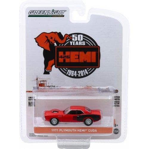 Anniversary Collection Series 9 - 1971 Plymouth HEMI 'Cuda - 426 HEMI 50 Years Solid Pack 1:64