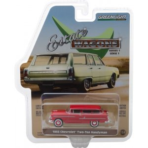 1955 Chevrolet Two-Ten Handyman - Gypsy Red Solid Pack - Estate Wagons Series 1 1:64