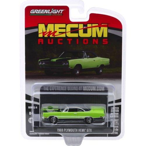 Macheta Greenlight, Mecum Auctions Collector Cars Series 4 - 1969 Plymouth HEMI GTX (Louisville 2018) Solid Pack 1:64