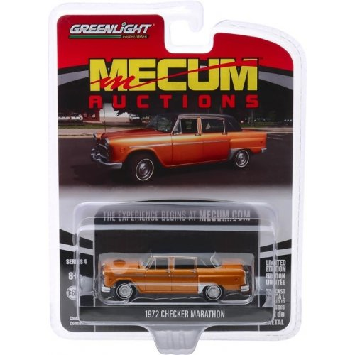 Macheta Greenlight, Mecum Auctions Collector Cars Series 4 - 1972 Checker Marathon 50th Anniversary 1 of 45 Produced (Chicago 2018) Solid Pack 1:64