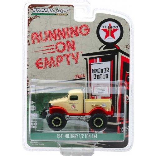 Macheta Greenlight, Running on Empty Series 8 - 1941 Military 1/2 Ton 4x4 - Texaco Solid Pack 1:64