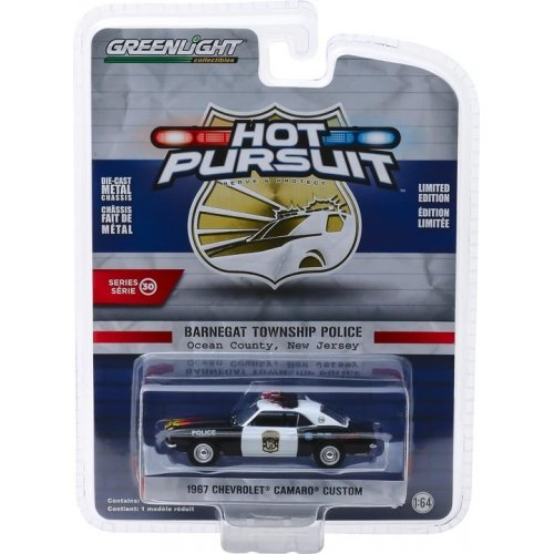 1967 Chevrolet Camaro Custom - Barnegat Township Police Department, New Jersey Solid Pack - Hot Pursuit Series 30 1:64