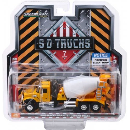 2019 Mack Granite Cement Mixer Solid Pack - S.D. Trucks Series 7 1:64