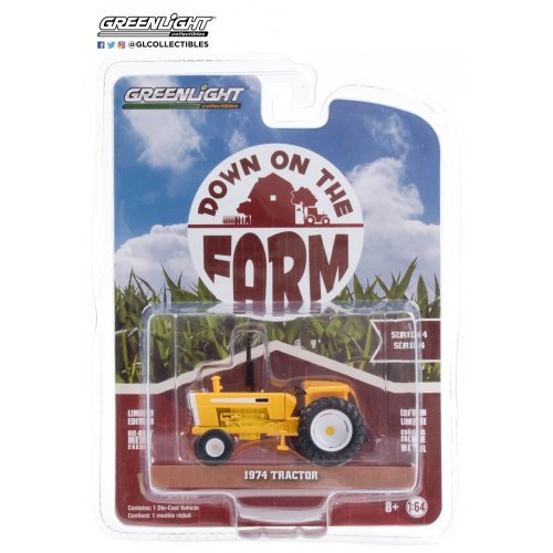 Down on the Farm Series 4 - 1974 Tractor with Open Cab - Yellow and White Solid Pack 1:64