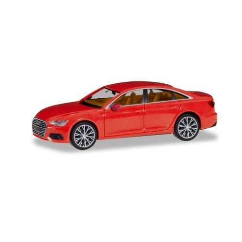 AUDI A6 ® SEDAN, FLAME RED WITH TWO-TONE RIMS 1:87