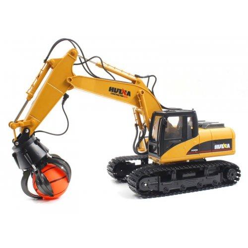 Excavator H-toys, Ball Grapple, 1:14 16CH 2.4GHz RTR cu telecomanda