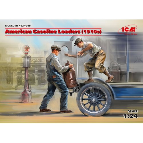 1:24 American Gasoline Loaders (1910s) (2 figures) (100% new molds) 1:24