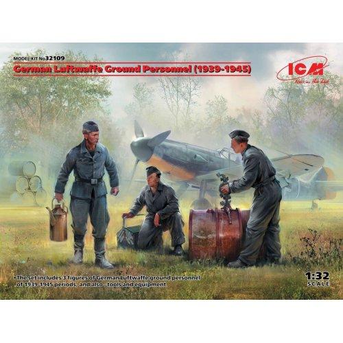 1:32 German Luftwaffe Ground Personnel (1939-1945) (3 figures) (100% new molds) 1:32
