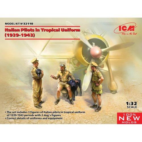 1:32 Italian Pilots in Tropical Uniform (1939-1943) (100% new molds) 1:32