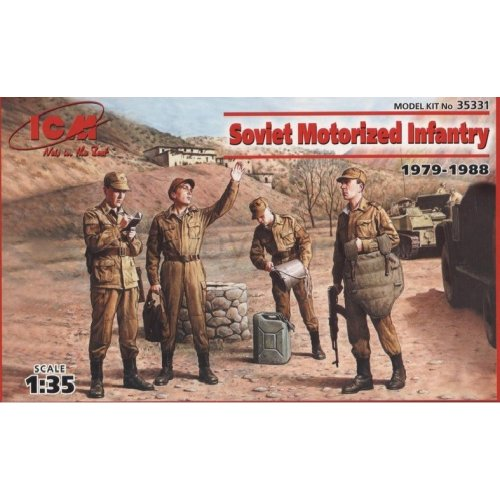 1:35 Soviet Motorized Infantry (1979-1988) (4 figures - 1 officer, 3 soldiers) 1:35