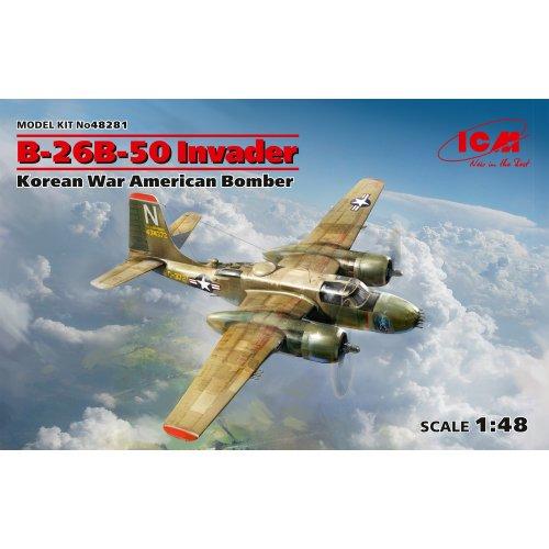 1:48 B-26B-50 Invader, Korean War American Bomber (100% new molds) 1:48